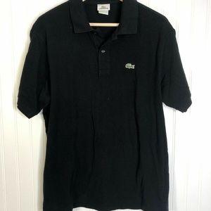 Black Size 6 Lacoste Polo Large Short Sleeve Shirt